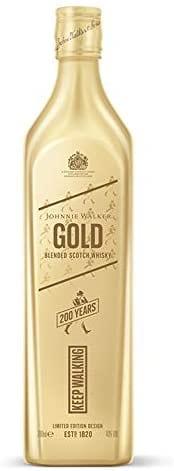Whisky Johnnie Walker Gold Label Reserve 750ml Embalagem Comemorativa de 200 anos