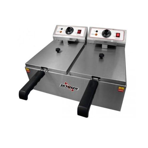 Fritadeira Elétrica Skymsen FED-20-N 10L Inox 2 Cubas 127v